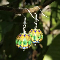 Sterling Silver Lampwork OOAK Earrings