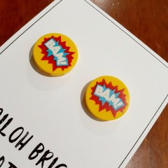 Boom & Bam Brick Stud Earrings