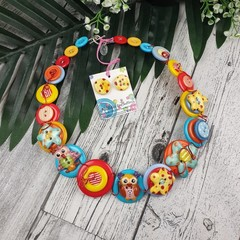 Blooming Owl - Necklace Buttons - Jewellery - Earrings