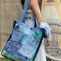 Beach Bag - Upcycled/Vintage