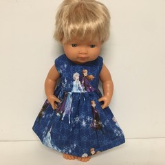 Miniland Dolls Frozen Dress to fit 38cm Dolls