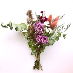 Wild Garden - Dry mini bouquet - Dried & preserved flowers - 21cm - Lavender