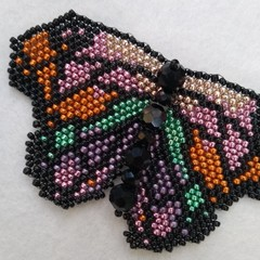 Beaded Butterfly Brooch