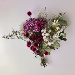 Amaranthine - Dry mini bouquet - Dried & preserved flowers - 17cm - Mothers day
