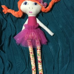 Ray of hope doll - Strawberry tartan with orange hair