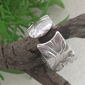 Open Band VINE RING. Sterling Silver. Recycled Silver Thumb Ring. Custom Size.