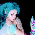 Mermaid Ear Fins - ooak festival wear(multiple colour options available)