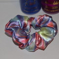 Rainbow Satin Scrunchie