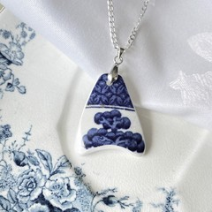 Blue Willow Trees Sterling Silver