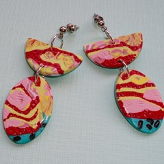 Fat Cat Originals Abstract Earrings