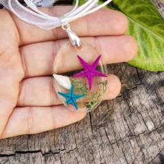Ocean droplet - Real Starfish necklace, mermaid jewellery