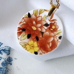Royal Albert Pink Flowers pendant