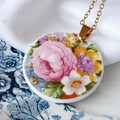 Royal Albert Pink Flower pendant