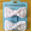 Crochet Bow Hair Clips - set of two