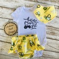 """Future Farmer Girl"" Onesie Set Custom Order for Yvette Size 9-12mths"