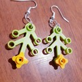 Leaf & Flower Dangle Earrings