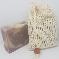 Artisan Lavender Soap & Exfoliating Bag Mothers Day