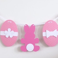 Bunny Rabbit and Easter Egg Garland. Easter, first birthday, babyshower decor