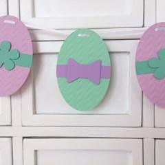 Easter Egg Banner. Easter, Spring, party decor, garland.