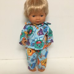 Miniland  Easter Dolls Pajamas to fit 38cm Dolls