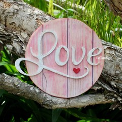Love Circle Reclaimed Timber Sign