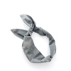 Gray Wire Headband Bohemian bandana Rockabilly Headband Vintage Headscarf