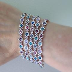 Sparkling Crystal Multi-Strand Bracelet