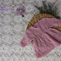 hand knitted mohair baby dress
