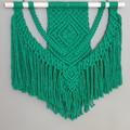 Green weave macrame wall hanging