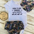 """Born to Ride Horses with Mummy"" Onesie Set Baby Girl"