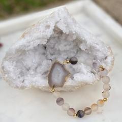 Agate Slice Gemstone Bracelet