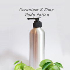 Geranium N Lime Body Lotion | Shea Butter & Wheat Germ Oil | Soothing 250g