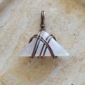 Selenite Triangle Pendant