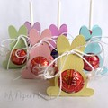 Mini Pastel Bunny Rabbit Lollipop holder. Easter candy wrapper.