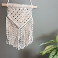 Natural cotton and Tassie oak wall hanging