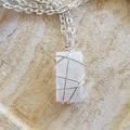 Silver Selenite Pendant