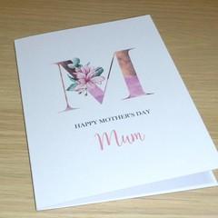 Mothers Day Card  - Magnolia Monogram