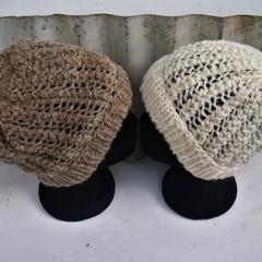 Pure Wool Textured Handspun Beanie