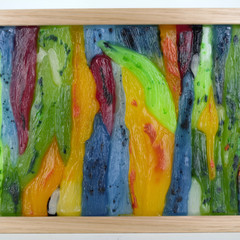 Australian Rainbow Tree Bark Wax Painting Light Box