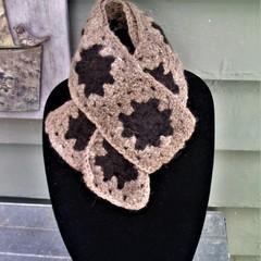 Alpaca Handspun - Hand Crocheted Scarf