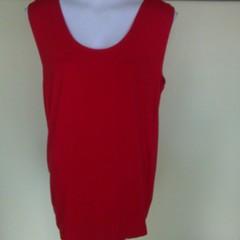 Singlet style cotton knit tops