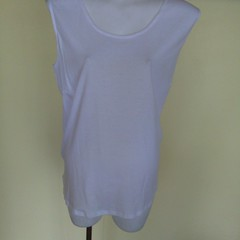 Singlet style cotton knit tops