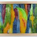 Australian Rainbow Tree Bark Wax Painting Light Box