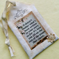 Fabric Tags/Scent Tags - Lovely Saying