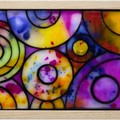 Rainbow Raindrops 2 Stained Glass Wax Painting Light Box