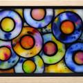 Rainbow Raindrops Stained Glass Wax Painting Light Box