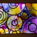 Rainbow Raindrops 2 Stained Glass Wax Painting Light Box