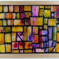 Golden Ratio Two Stained Glass Wax Painting Light Box
