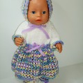 Dolls clothes a knitted set to fit Baby Born or similar sized dolls
