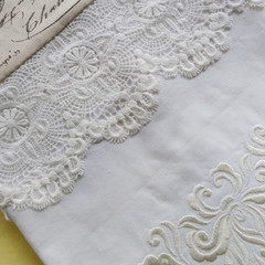 Single Lace Pillow Case-Machine Embroidered-Unique